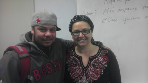 Tariq Nazyat with Maria Cristina