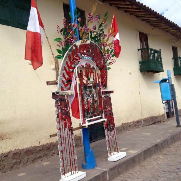 Altar-banner San Jeronimo Peru